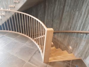 Trapp lagt i betong